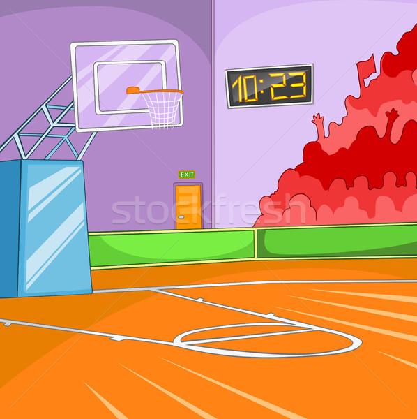 Cartoon boisko do koszykówki kolorowy sportu arena Zdjęcia stock © RAStudio