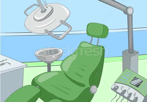 Rajz fogorvosi rendelő belső kézzel rajzolt orvosi színes Stock fotó © RAStudio