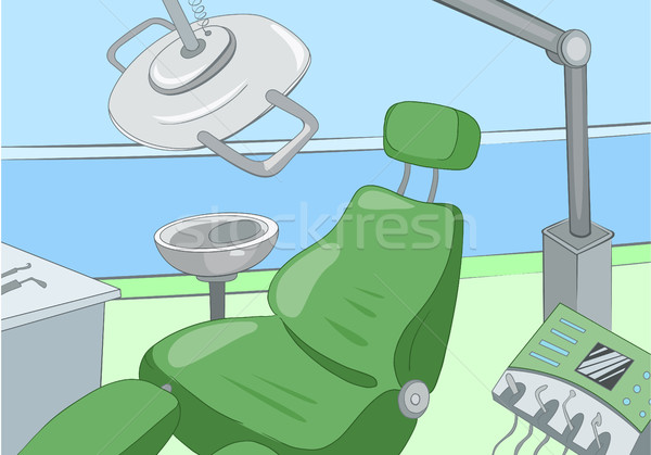 Cartoon background of dentist office interior. Stock photo © RAStudio