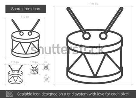 Snare drum line icon. Stock photo © RAStudio
