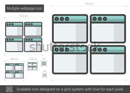 Múltiplo linha ícone vetor isolado Foto stock © RAStudio