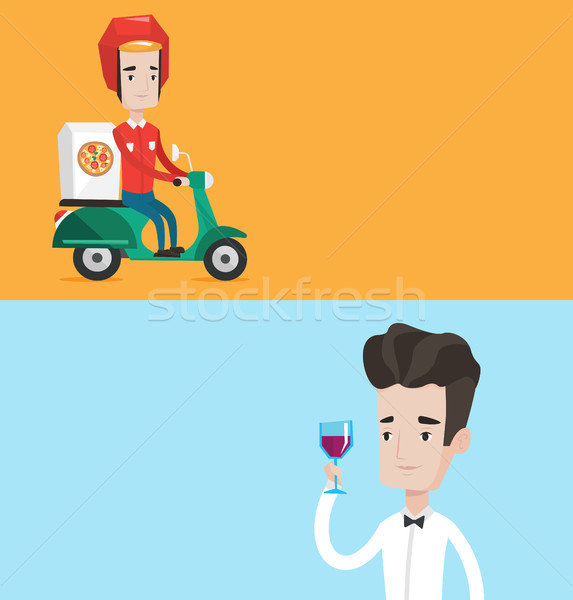 Stock photo: Two food and drink banners with space for text.