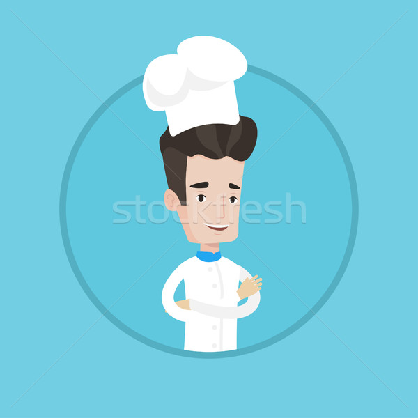 Confident male chief cooker with arms crossed. Stock photo © RAStudio