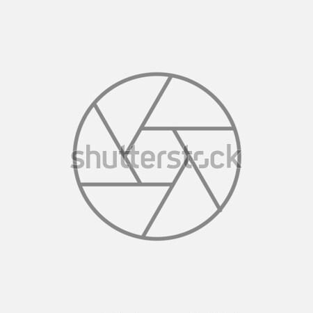 Fotocamera dell'otturatore sketch icona vettore isolato Foto d'archivio © RAStudio