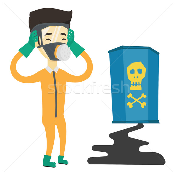 Concerned man in radiation protective suit. Stock photo © RAStudio