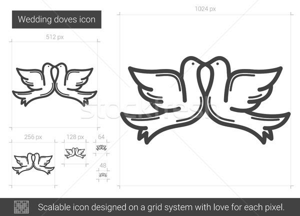 Wedding doves line icon. Stock photo © RAStudio