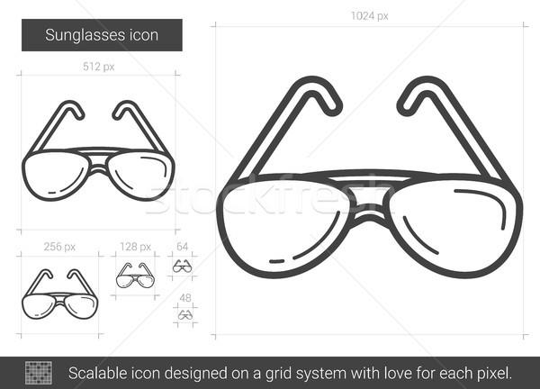 Sunglasses line icon. Stock photo © RAStudio