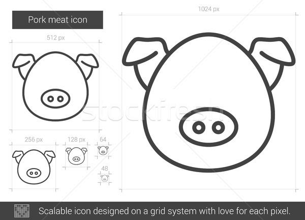Pork meat line icon. Stock photo © RAStudio