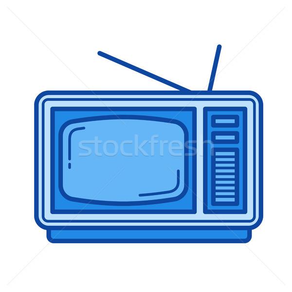 Vintage TV line icon. Stock photo © RAStudio