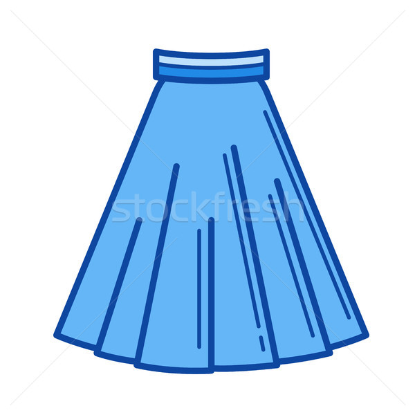 Stock photo: Skirt line icon.