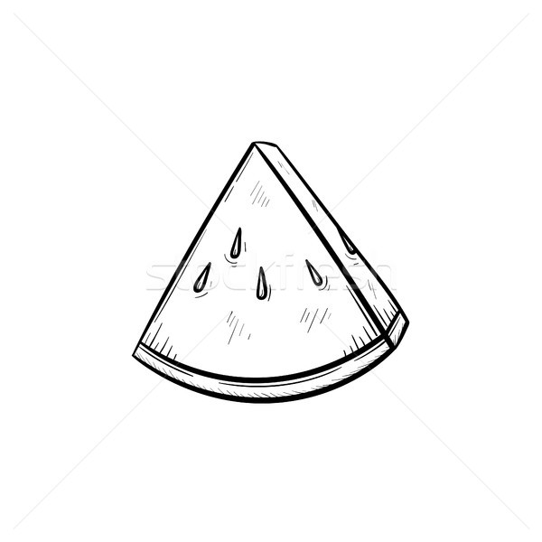 Watermelon hand drawn sketch icon. Stock photo © RAStudio