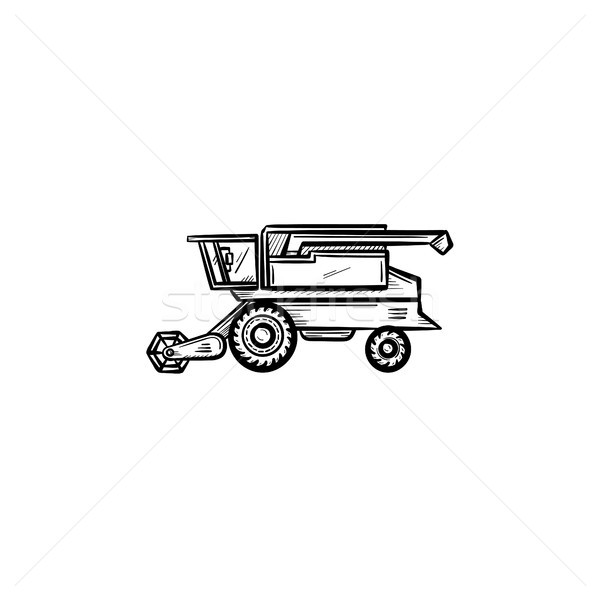 Combine harvester hand drawn sketch icon. Stock photo © RAStudio