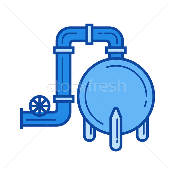 Gaz rafineri hat ikon vektör yalıtılmış Stok fotoğraf © RAStudio