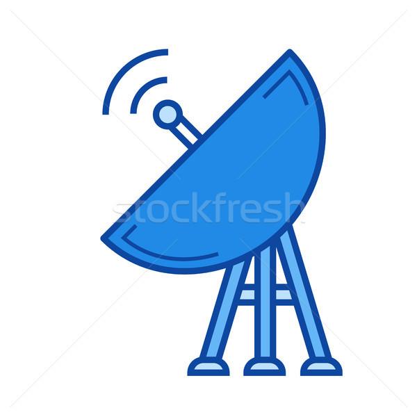Uydu plaka hat ikon vektör yalıtılmış Stok fotoğraf © RAStudio