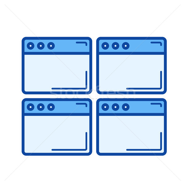 Multiple webpage line icon. Stock photo © RAStudio
