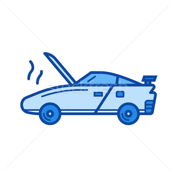 Broken car line icon. Stock photo © RAStudio