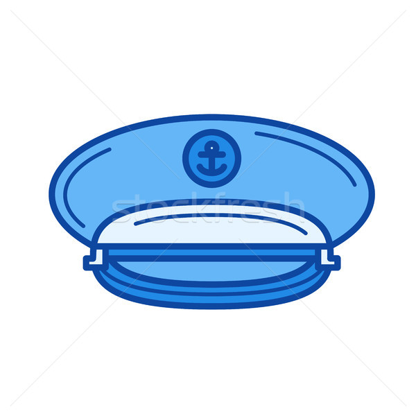 Captain hat line icon. Stock photo © RAStudio