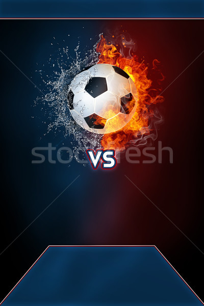 Piłka nożna sportowe turniej nowoczesne plakat szablon Zdjęcia stock © RAStudio