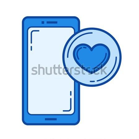 Like button line icon. Stock photo © RAStudio