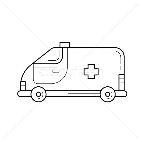 Ambulance vehicle line icon. Stock photo © RAStudio