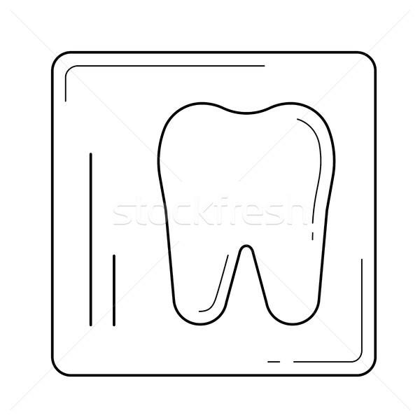 Dental x-ray line icon. Stock photo © RAStudio