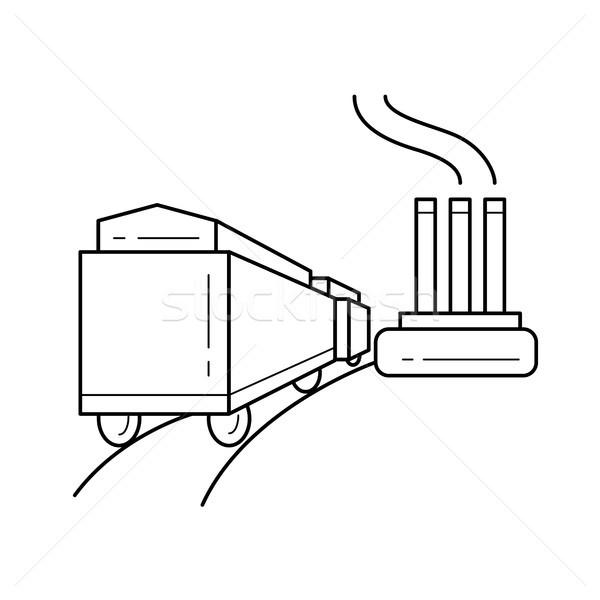 Usina vetor linha ícone isolado branco Foto stock © RAStudio