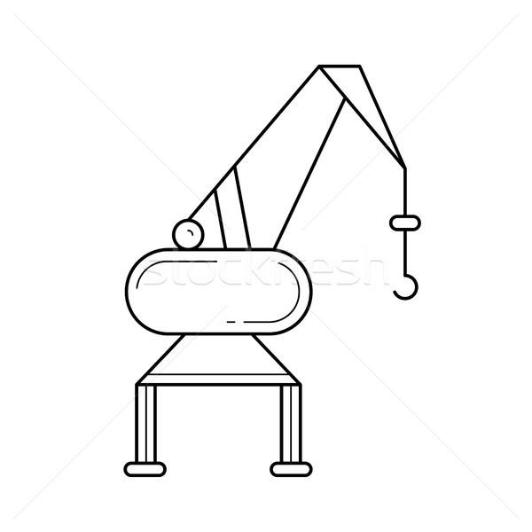 Kikötő állvány vektor vonal ikon izolált Stock fotó © RAStudio