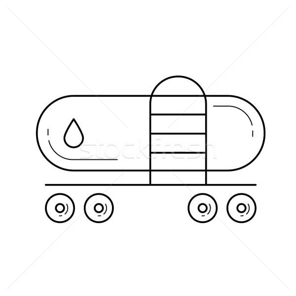 Train vecteur ligne icône isolé blanche Photo stock © RAStudio