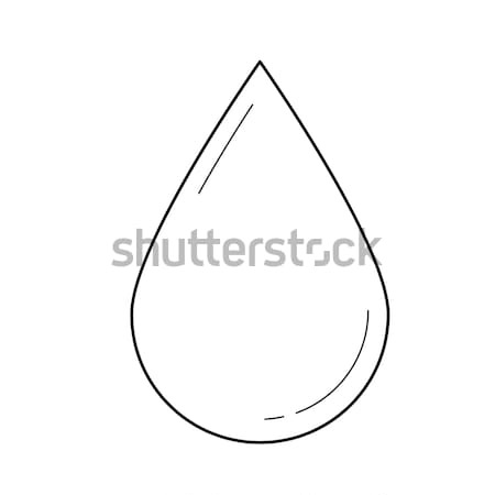 Water drop vector line icon. Stock photo © RAStudio