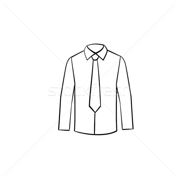 Camisas esboço ícone Foto stock © RAStudio