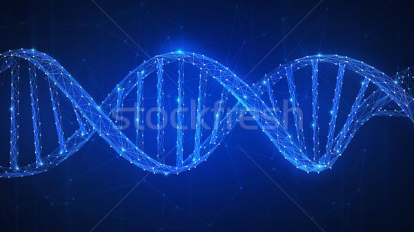 DNA chain futuristic hud banner. Stock photo © RAStudio