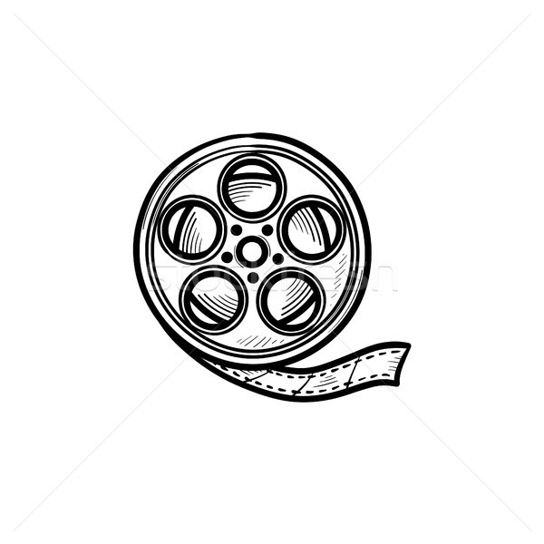 Movie camera reel hand drawn outline doodle icon. Stock photo © RAStudio