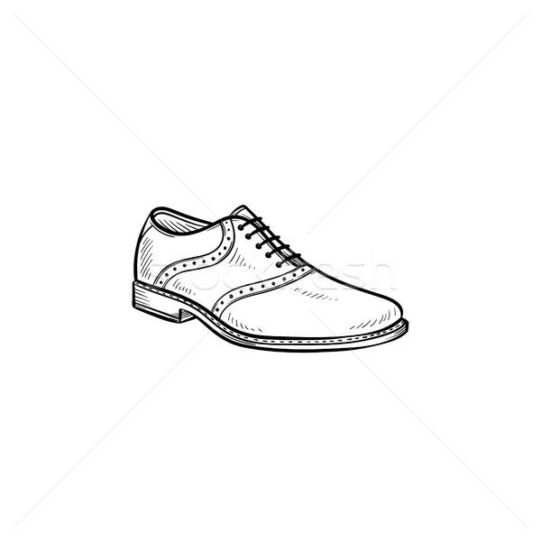 Male shoe hand drawn outline doodle icon. Stock photo © RAStudio