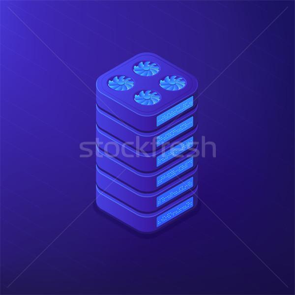 Isométrique stockage de données disque dur hébergement grand unité Photo stock © RAStudio