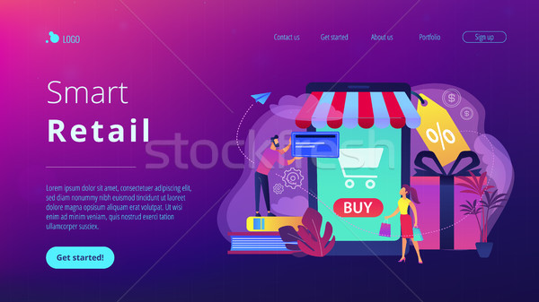 Smart retail in smart city concept illustration. Stock photo © RAStudio