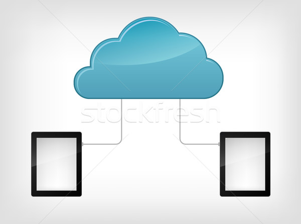 Stock fotó: Felhő · szolgáltatás · izolált · szürke · gradiens · eps