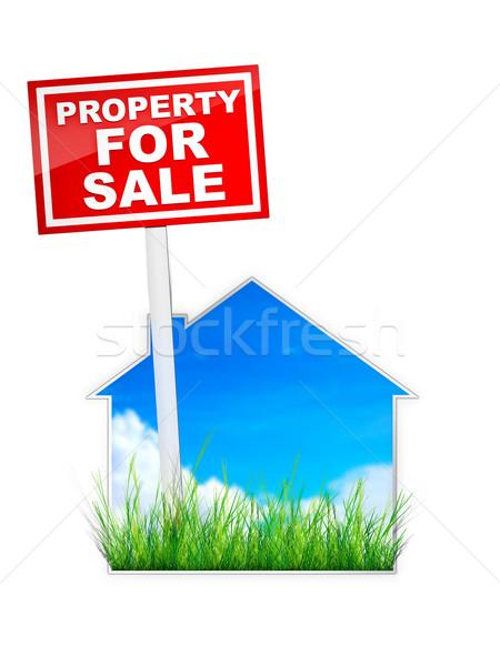 Sign - Property For Sale Stock photo © RAStudio