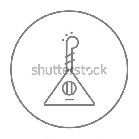 Ukelele thin line icon Stock photo © RAStudio