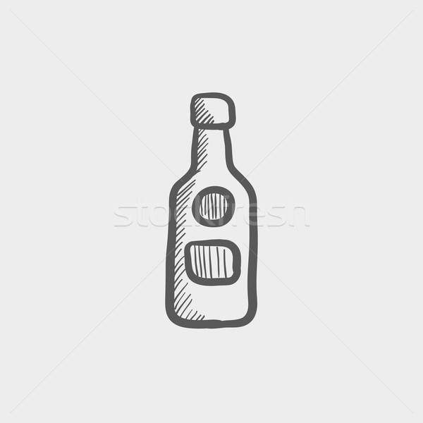 üveg whisky rajz ikon háló mobil Stock fotó © RAStudio