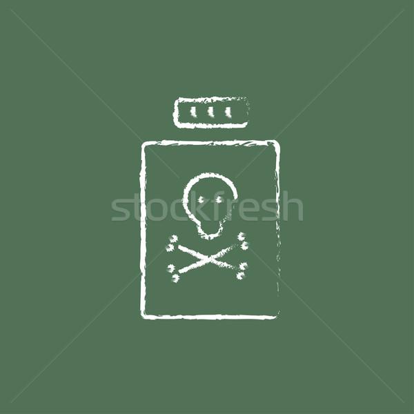şişe zehir ikon tebeşir Stok fotoğraf © RAStudio
