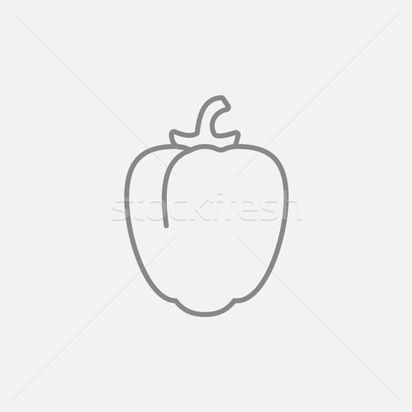 Bell pepper line icon. Stock photo © RAStudio