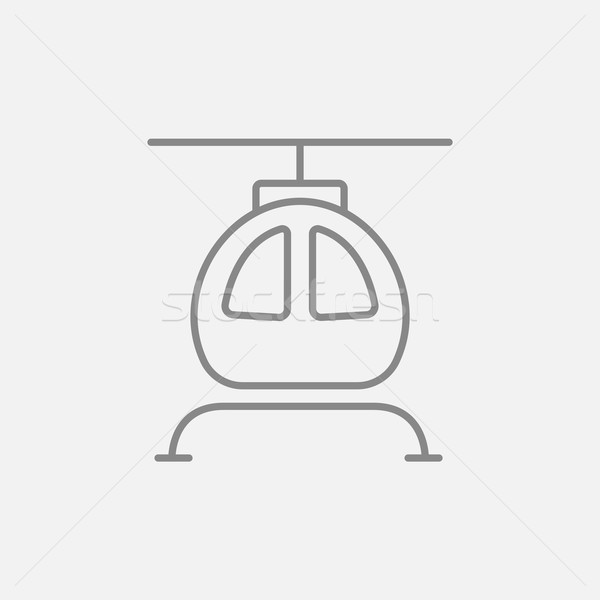 Helikopter lijn icon web mobiele infographics Stockfoto © RAStudio