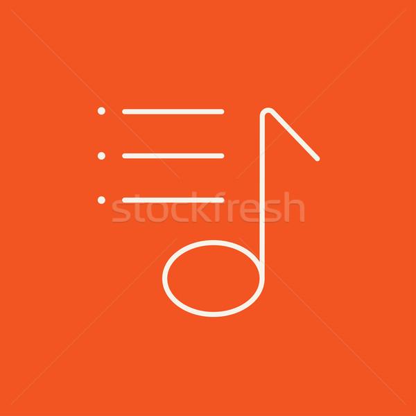 Musical note line icon. Stock photo © RAStudio