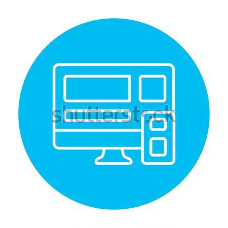 Di risposta web design line icona web mobile Foto d'archivio © RAStudio