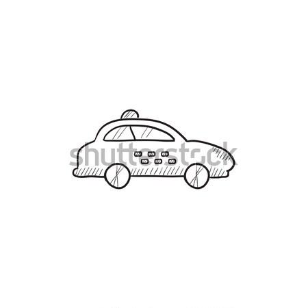 Taxi car line icon. Stock photo © RAStudio
