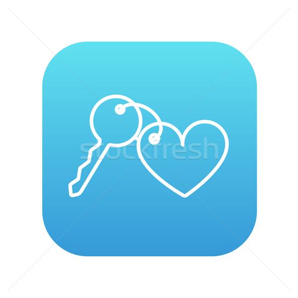 Trinket for keys as heart line icon. Stock photo © RAStudio