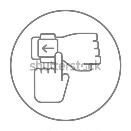 Smartwatch line icon. Stock photo © RAStudio