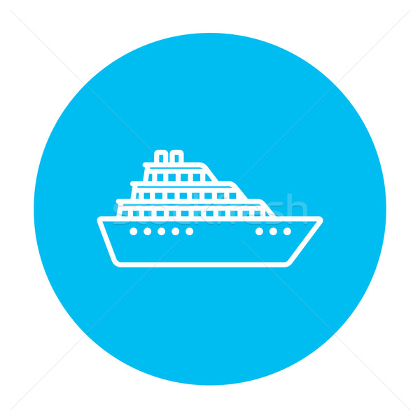 Cruiseschip lijn icon web mobiele infographics Stockfoto © RAStudio