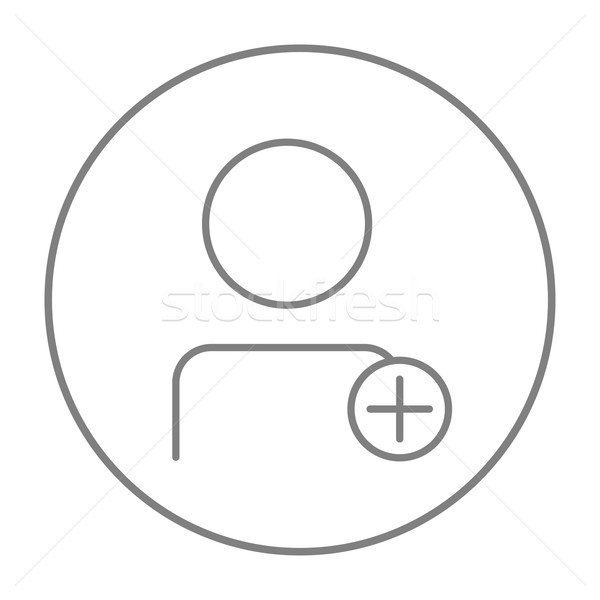 User profile with plus sign line icon. Stock photo © RAStudio