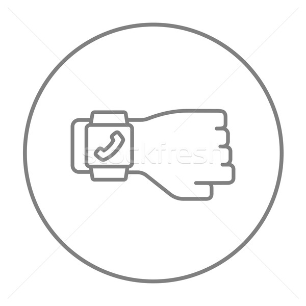 Stock photo: Smartwatch line icon.